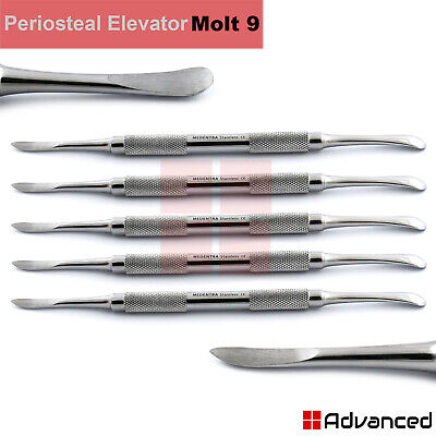 5Pcs Molt Periosteal Elevators M9 Double Ended Dental Surgical Implant Surgery