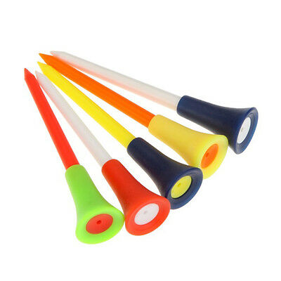 50pcs 83mm High Quality Multi Color Plastic Golf Tees Rubber Cushion Top Hot