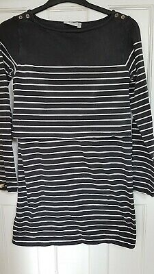 Jojo Maman Bebe Nursing Maternity Tunic Dress Top Jersey Stripes Medium 12