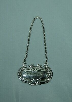 "Vintage Wallace Sterling Silver Decanter Tag: ""ITALIAN VERMOUTH"""