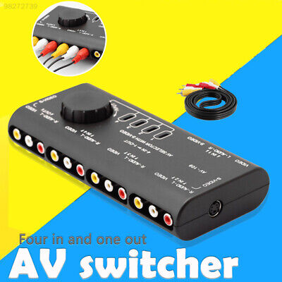 AFCF Audio Accessories Smart AV RCA Splitter 4 in 1 Selector out Switch Box