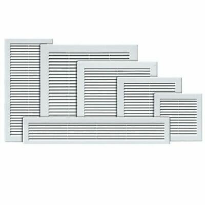 Air Vent Grille White Plastic Wall Ventilation Cover 200 x 300mm with Flyscreen