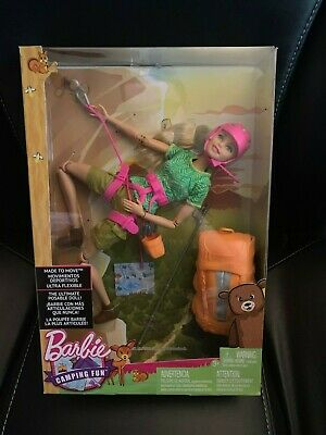 New Barbie Made to Move The Ultimate Posable Rock Climber Doll Camping Fun
