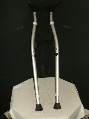 """Pair MobiLegs Universal Ergonomic Crutches Fully Adjustable 4'9""""- 6'4"""" Up To 300"""