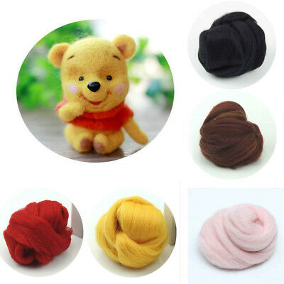 Genuine Wool Spin Top Fibre Roving For Needle Felting Wet Felt Toys Art Crafts