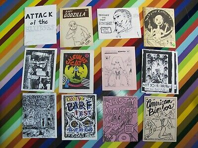 vtg 1980s underground mini comic - Mixed 8 pagers Emerson Lewis Ryan Ratface +
