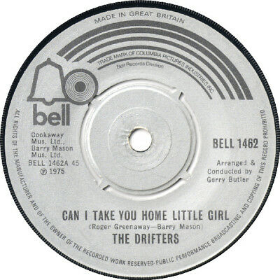 """The Drifters – Can I Take You Home Little Girl    7"""" Vinyl 45rpm"""