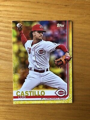 2019 Topps Series 1 Walgreens Exclusive YELLOW PARALLEL LUIS CASTILLO REDS