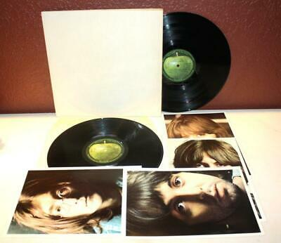 The Beatles Embossed White Album Double Lp Vinyl Apple Records Pcs 7068 ~R19