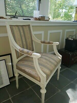 Set of 2 Gustavian armchairs from Sweden