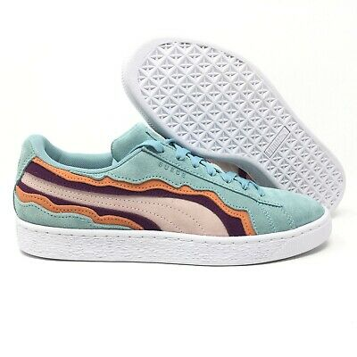 size 40 3aab1 0e555 RARE NEW Puma Suede Classic Low Coast Men Multi Sneakers Size 8 Teal Blush  Red