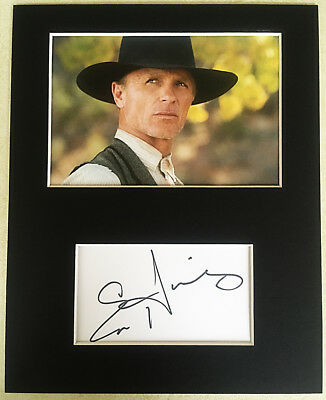Ed Harris Signed Mounted Photo Display The Man in Black westworld