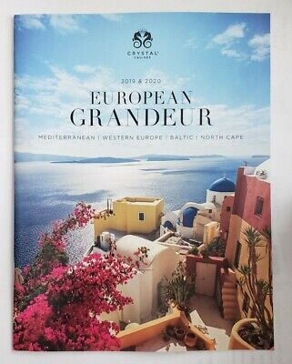 2019 & 2020 Crystal Cruises EUROPEAN GRANDEUR Travel Cruises NEW 44 pgs