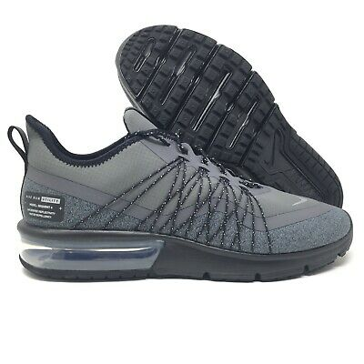 3b14e16a2a Nike Air Max Sequent 4 Shield Black Grey Utility Running Shoes Size 11 Mens