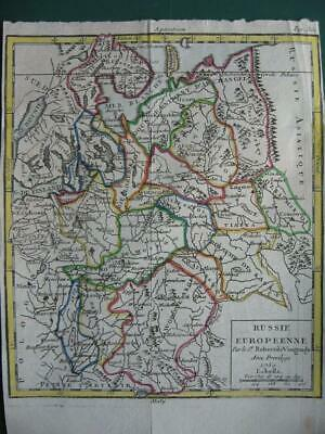 1750 - VAUGONDY - Small map RUSSIA IN EUROPE