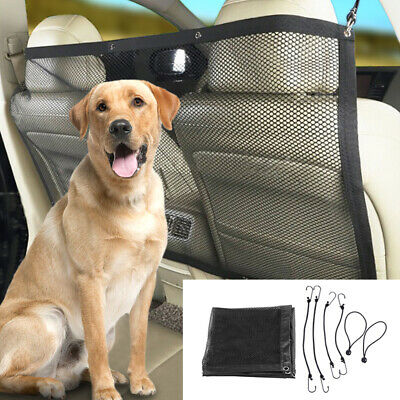 Black Dog Car Back Guard Seat Mesh Vehicle Safety Net Barrier Fence for Pet Dogs