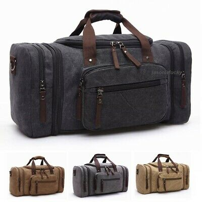 US Mens Canvas Luggage Duffle Bag Gym Handbag Outdoor Sports Travel Fitness Tote