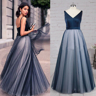 Women Formal Wedding Long Bridesmaid Evening Party Ball Prom Gown Cocktail Dress