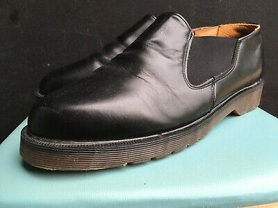 Dr.Martens Mens Black Leather Chelsea Style Shoes - Made in England UK 9