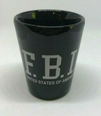 Black FBI F.B.I. Federal Bureau of Investigation USA Shot Glass Bar Souvenir