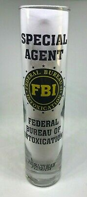 "FBI Federal Bureau of INTOXICATION PCB FL 7.5"" Shot Glass Bar Shooter Souvenir"