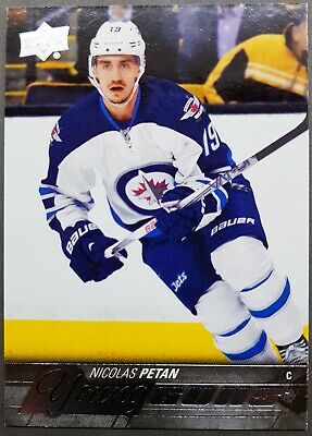 2015-16 UD Young Guns NICOLAS PETAN Rookie #227 Winnipeg Jets Maple Leafs RC