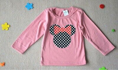 Brand New with tags girls Minnie Mouse long sleeve shirt size 6-7 years