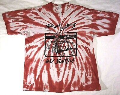 2c447023 VTG Hunter S Thompson Fear and Loathing in Las Vegas At Sturgis 1991 T shirt  XL