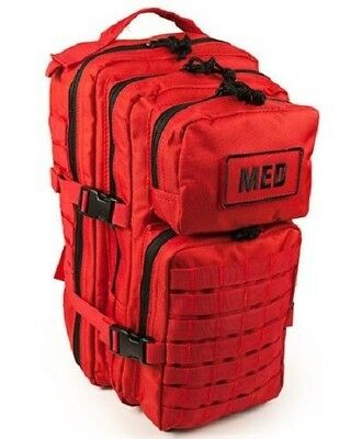 ELITE FIRST AID Tactical Trauma Kit #3 STOCKED w/ Backpack Medic Survival RED+