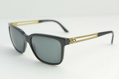 b490d49403fc 28 VERSACE MOD 4307 GB1/87 Black Gray Gold Polarized Sunglasses 58 ...