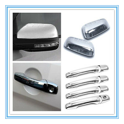 FOR 2011-2016 FORD EXPLORER CHROME MIRROR TOP HALF COVER COVERS PAIR US SELLER!!