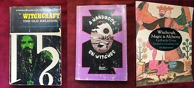 Lot of 3 Vintage Classic Witchcraft Books metaphysical occult magick Alchemy