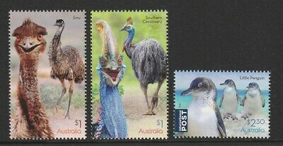 Australia 2019 : Flightless Birds, Design Set. Mint Never Hinged