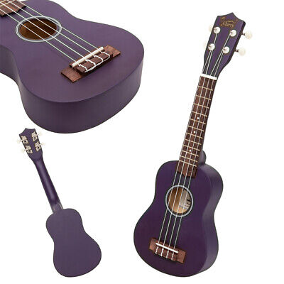 "Glarry Purple 21"" Inch Soprano Basswood Ukulele for Brginners Uke w/ Gig Bag"