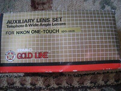 Star Gold Line Auxiliary Lens Set SDG-6628 Nikon One Touch Telephoto Wide Angle