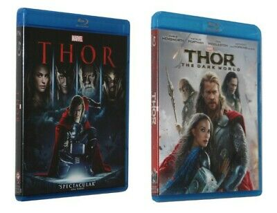 Marvel Movies: THOR Complete Original & The Dark World 1 & 2 BLU-RAY US seller