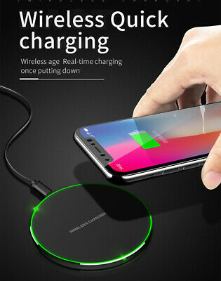 Fast Charging QI Wireless Charger Pad Mat Receiver For Apple iPhone XS Max X 8+