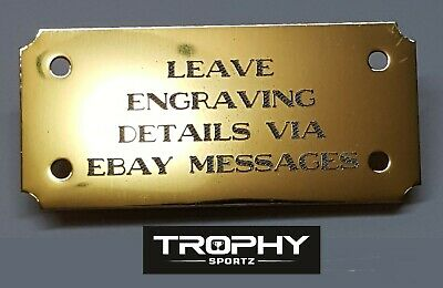 65mmx30mm,PUNCHED HOLES ,CONCAVE CORNERS ,SELF ADHESIVE BRASS ENGRAVING PLATES