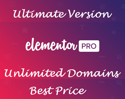Elementor PRO ⭐ Plugin Wordpress ⭐ LAST VERSION 2.5.14 ⭐ July 2019 ⭐ +100 TMPL