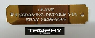 90mm x 20mm SELF ADHESIVE,PUNCHED HOLES, BRASS ENGRAVING PLATES,CUSTOM ENGRAVED