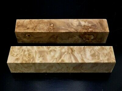 "PB9) 2 Maple Burl Pen Turning Blanks 7/8""(+/-) Reel Set"