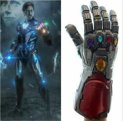 US!Avengers4: Endgame Iron Man Infinity Stone Gauntlet Cosplay Latex Glove Props