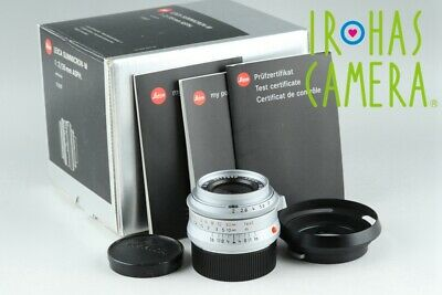 Leica Summicron-M 35mm F/2 ASPH. Anthracite E39 Lens for Leica M With Box #21451