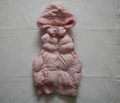 Girl2Girl Girls Light Pink Hooded Gilet Age 4-5 Years