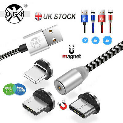 Magnetic Micro USB Cable For iPhone Samsung Type-C Magnet Charger Adapter Cable
