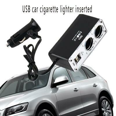 12V 2 Way Car Auto Cigarette Lighter Power Socket Charger Adapter Dual Twin USB