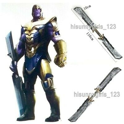 1:1 Avengers 4 Endgame Thanos Weapon Double-Edged Sword Cosplay Props Hot Gift