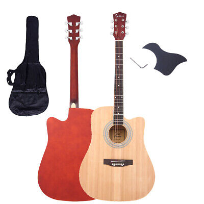 "New 41"" Acoustic 6-String Guitar for Beginners Students Natural Wood Color"
