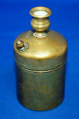 A rare antique Victorian repousse brass patent vesta case, go-to-bed, safety box