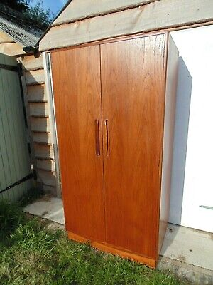 G Plan Fresco Teak Wardrobe With Shelves Drawers *Free Delivery Retro Vintage